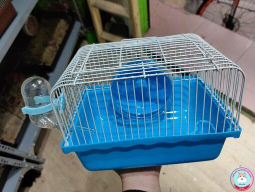 Lồng Hamster nhỏ màu xanh dương