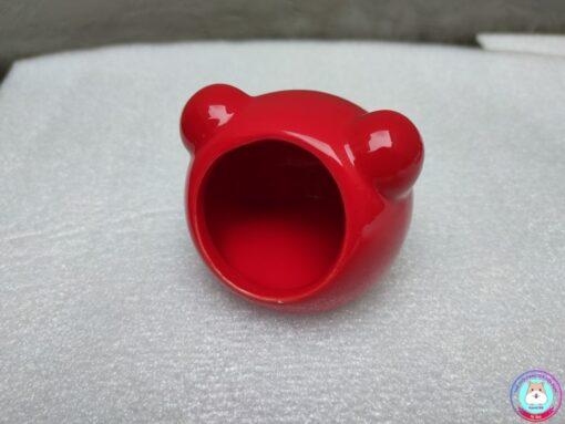 Nhà ngủ sứ tai gấu màu đỏ